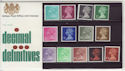1971 Definitive Stamps Presentation Pack No. 37 (66143)