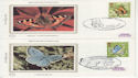 1981-05-13 Butterflies Stamps x4 Silk FDC (66206)