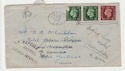1938 KGVI Stamps UK to France Envelope (66291)