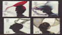 2001-06-19 Fashion Hats Stamps Cheap Used Set (66371)