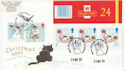 2001-12-25 Christmas Bklt Stamps Doubled 2003 FDC (66399)