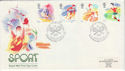 1988-03-22 Sport Stamps Lawn Tennis London W14 FDC (66480)