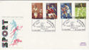 1980-10-10 Sport Stamps Cricket Lords NW8 FDC (66508)