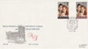 1986-07-22 Royal Wedding Stamps Dummer FDC (66526)