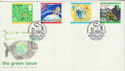 1992-09-13 Green Issue Stamps Brownsea Island FDC (66546)