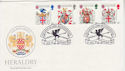1984-01-17 Heraldry Stamps London EC4 FDC (66585)