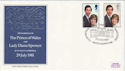 1981-07-22 Royal Wedding Stamps Althorpe FDC (66592)