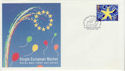1992-10-13 European Market Stamp Downing St SW1 FDC (66637)