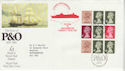 1987-03-03 P&O Booklet Pane Bureau + Carried FDC (66654)