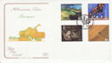 1999-09-07 Farmers Tale Stamps Stoneleigh FDC (66714)