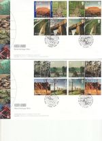 2005-04-21 World Heritage GB/Australia x2 FDC (68699)