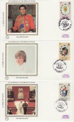 1981-07-22 Pitcairn Royal Wedding Stamps x3 FDC (68824)