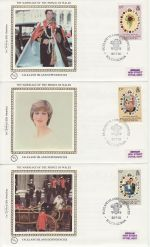 1981-07-22 Falkland Is Dep Royal Wedding Stamps x3 FDC (68825)