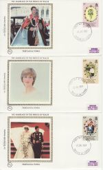 1981-07-22 Tristan Royal Wedding Stamps x3 FDC (68829)