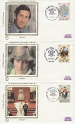 1981-07-22 Vanuatu Royal Wedding Stamps x3 FDC (68830)