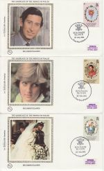 1981-07-22 Solomon Royal Wedding Stamps x3 FDC (68831)