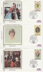 1981-07-22 Samoa Royal Wedding Stamps x3 FDC (68833)