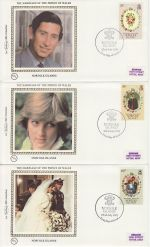 1981-07-22 Norfolk Is Royal Wedding Stamps x3 FDC (68834)