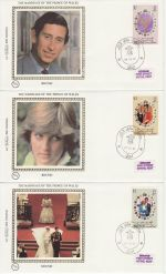 1981-07-29 Brunei  Royal Wedding Stamps x3 FDC (68842)