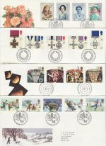 1990 Bulk Buy x7 FDC From 1990 With Bureau Pmks (69742)