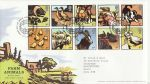 2005-01-11 Farm Animals Stamps T/House FDC (69978)