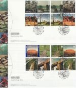 2005-04-21 World Heritage GB/Australia x2 FDC (69986)