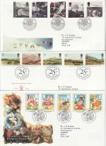 1994 Bulk Buy x9 First Day Covers With Bureau Pmks (70912)