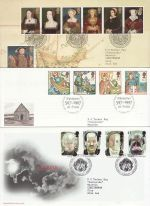 1997 Bulk Buy x8 First Day Covers with Bureau Pmks (71121)