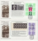 1982-05-19 Stanley Gibbons Booklet Full Panes x4 FDC (71911)