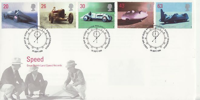 1998-09-29 Speed Records Stamps Bureau FDC (71918)
