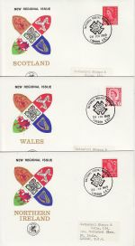 1969-02-26 Regional Definitive Stamps Set of 6 NPM FDC (72215)