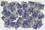 9p Stamps used off paper over 40 Stamps (72602)