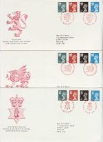 1989-11-28 Regional Definitive Stamps x3 SHS FDC (73008)