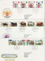 1984 Bulk Buy x9 FDC From 1984 Bureau pmk (73204)