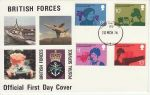 1976-03-10 Telephone Stamps Forces FPO 92 cds FDC (73214)