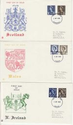 1968-09-04 Regional Definitive Stamps x6 FDC (73282)