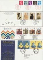 1990 Bulk Buy x10 FDC from 1990 with Special Pmks (73806)