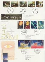 1991 Bulk Buy x 8 FDC From 1991 with Special Pmks (73807)