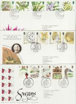 1993 Bulk Buy x9 First Day Covers With Special Pmks (73809)