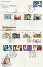 1975 Bulk Buy x8 First Day Covers with Bureau Pmks (73813)