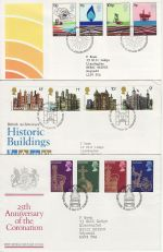 1978 Bulk Buy x6 First Day Covers with Bureau Pmks (73816)
