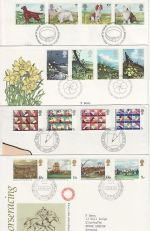 1979 Bulk Buy x8 First Day Covers with Bureau Pmks (73817)