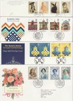 1990 Bulk Buy x8 FDC From 1990 With Bureau Pmks (74346)