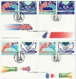 1994-05-03 Channel Tunnel GB + France x2 FDC (75070)