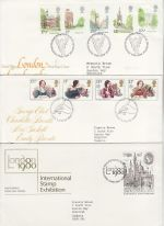 1980 Bulk Buy x7 First Day Covers with Bureau Pmks (75321)