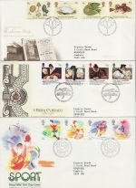 1988 Bulk Buy x9 FDC From 1988 Bureau Pmk (75328)