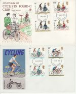 1978-08-02 Cycling Gutter Stamps Ilford x2 FDC (75394)