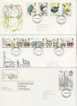 1980 Bulk Buy x10 First Day Covers mostly London Pmks (75540)