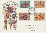 1974-07-10 Medieval Warriors Stamps London FDC (75672)