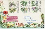 1967-04-24 British Flowers Stamps Malvern cds FDC (75723)
